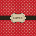 Vintage red card, polka dot design Stock Photography