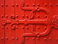 Vintage red door Stock Image
