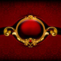 Vintage Red Frame Royalty Free Stock Photos