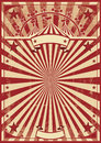 Vintage red sunbeams a circus poster for your show Stock Images