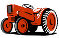 Vintage red tractor Royalty Free Stock Photos