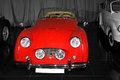 Vintage red Triumph TR3A Royalty Free Stock Photo