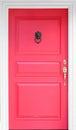 Vintage red wooden door