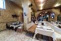 Vintage restaurant Pomestie with a cozy interior Royalty Free Stock Photo