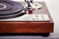 Vintage retro análogo estéreo del jugador de disco de vinilo de la placa giratoria Fotografía de archivo