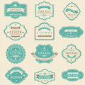 Vintage and retro badges design with sample text (