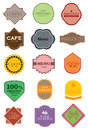 Vintage retro badges and labels Royalty Free Stock Image