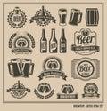 Vintage retro beer icon set Royalty Free Stock Photo