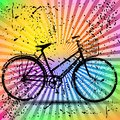 Vintage retro bicycle with colorful background vector Stock Image