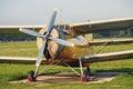 Vintage retro biplane Royalty Free Stock Photo