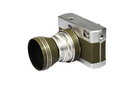 Vintage and retro camera side view isolated in white background Stock Images