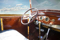 Vintage retro car interior old blue sky Royalty Free Stock Images