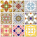 Vintage retro ceramic tile pattern set collection 005