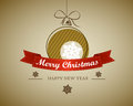 Vintage retro christmas card Royalty Free Stock Images