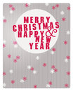 Vintage retro christmas card vector label Royalty Free Stock Images