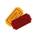 Vintage retro cinema tickets illustration. Royalty Free Stock Photo