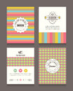 Vintage retro frames and backgrounds Design Template Royalty Free Stock Photo