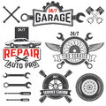 Vintage retro grunge car labels Royalty Free Stock Photo