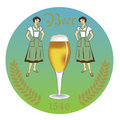 Vintage retro label beer restaurant garden badges and icons Royalty Free Stock Photos