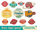 Vintage retro labels and tags Stock Photography