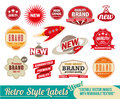 Vintage retro labels and tags Royalty Free Stock Photo