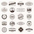 Vintage Retro Logos Labels vector.