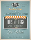 Vintage retro template for a lot of purposes page variety website home page old style flyers book covers or posters Stock Images