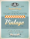 Vintage retro template for a lot of purposes page variety website home page old style flyers book covers or posters Royalty Free Stock Photos