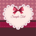 Vintage retro vector cute frame with heart illustration Stock Photos