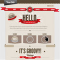 Vintage-retro website Royalty Free Stock Photography