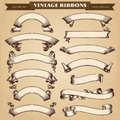 Vintage Ribbon Banners Vector Collection Royalty Free Stock Photo