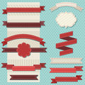 Vintage ribbons set for christmas Royalty Free Stock Images