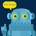 Vintage robots speech bubble robot talking Stock Photos