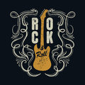 Vintage rock and roll typograpic for t shirt tee designe poster flyer vector illustration Royalty Free Stock Photo
