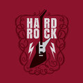 Vintage rock and roll typograpic for t shirt tee designe poster flyer vector illustration Stock Photography