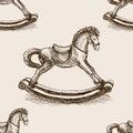 Vintage Rocking Horse Sketch S...