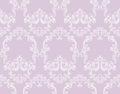 Vintage Rococo pattern background Vector illustrations pink color