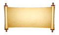 Vintage roll of parchment isolated on white background Stock Image