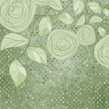 Vintage rose floral card (not auto-traced). EPS 8 Royalty Free Stock Images