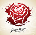 Vintage Rose tribal  Royalty Free Stock Image