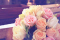 Vintage roses bouquet arrange for wedding  decoration Stock Image