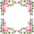 Vintage Roses Frame. Vector Il...