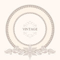 Vintage round frame background ornamental label template Stock Photography