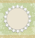 Vintage round frame on floral background Royalty Free Stock Photography