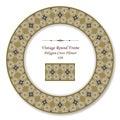 Vintage Round Retro Frame 426 Polygon Cross Flower Royalty Free Stock Photo