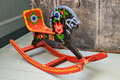 Vintage Russian Rocking Horse