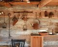 Vintage rustick kitchen, circa 1800s Stock Photography