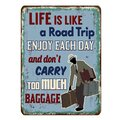 Rusty life is like a road trip metal sign on a white background, vector illustration Royalty Free Stock Photo