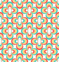 Vintage s abstract seamless pattern colorful rosettes Royalty Free Stock Photo
