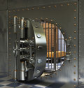 Vintage Safes Stock Photo